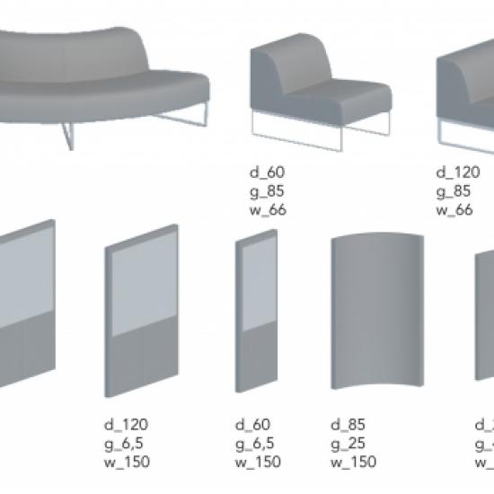 Noti - sofy i fotele Tritos Modular - elementy
